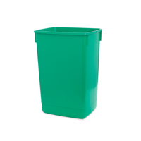 ADDIS 60L FLIP TOP RECYCLE BIN BASE GRN