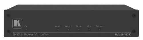 Kramer Electronics PA-240Z audio amplifier 2.0 channels Performance/stage Wired Black