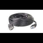 """iogear Ultra-Hi-Grade 50 ft VGA cable 600"""" (15.2 m) VGA (D-Sub) Black"""