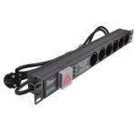 Dynamode PDU-6WS-H-SCH-SCH-SP power distribution unit (PDU) 6 AC outlet(s) 1U Black