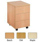 JEMINI FF JEMINI 3 DRAWER MOBILE PED OAK