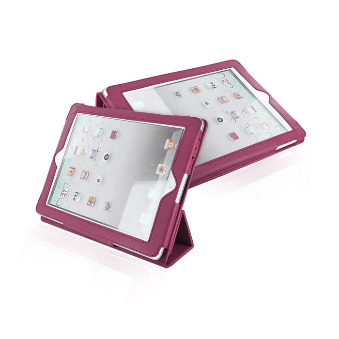 4WORLD Case with Folded Stand for iPad 2, Burgundy Red (08186)