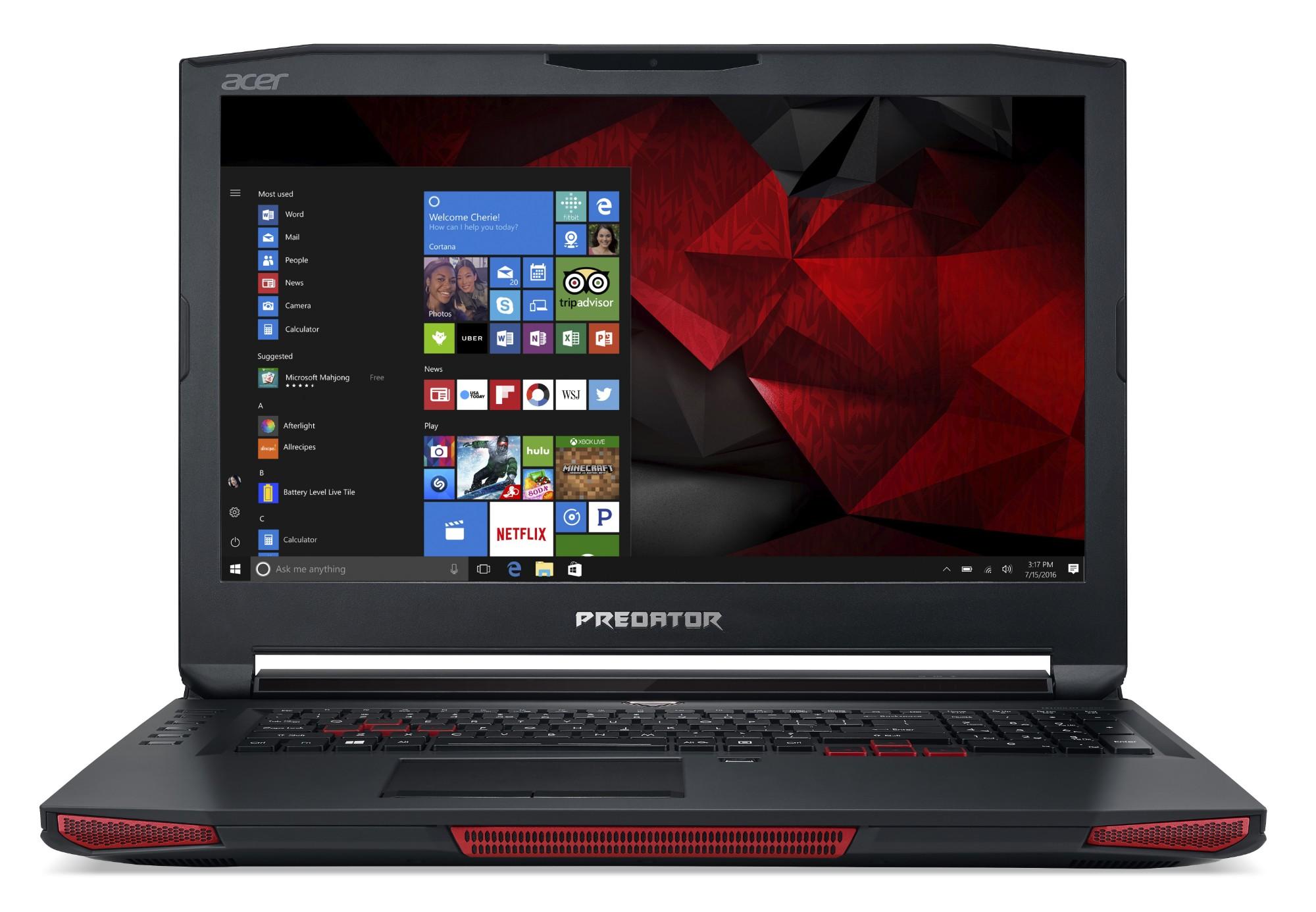 "Acer Predator 17 X GX-792-73D3 2.9GHz i7-7820HK 17.3"" 1920 x 1080pixels Black, Red Notebook"