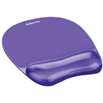 Fellowes CRYSTAL GEL MOUSEPAD PURP 91441