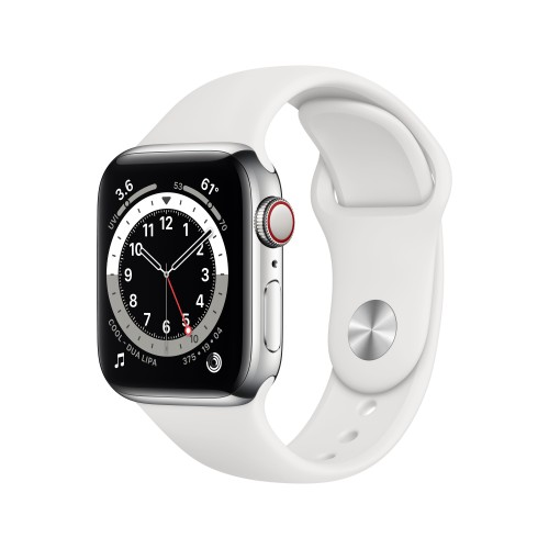 Apple Watch Series 6 40 mm OLED 4G Silver GPS (satellite)