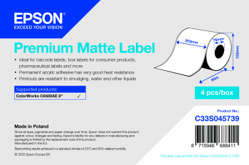 Epson C33S045739 printer label White