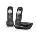 Gigaset AS405A Duo Analog/DECT telephone Black Caller ID