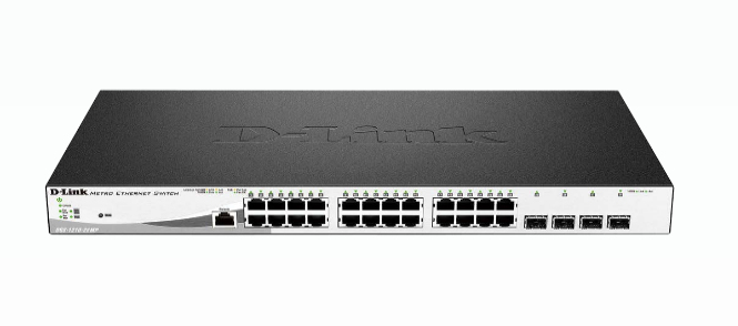 D-Link DGS-1210-28MP netwerk-switch Managed L2 Gigabit Ethernet (10/100/1000) Zwart, Grijs 1U Power over Ethernet (PoE)