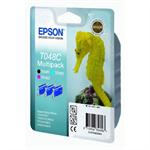 Epson C13T048C4010 (T048C) Ink cartridge cyan, 430 pages, 3x13ml, 13ml