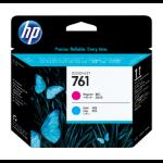 HP 761 Magenta/Cyan Designjet Printhead Inyección de tinta cabeza de impresora