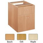 JEMINI FF JEMINI 2 DRAWER FIXED PED OAK