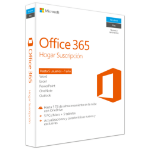 Microsoft Office 365 Home 1user(s) 1year(s) Spanish