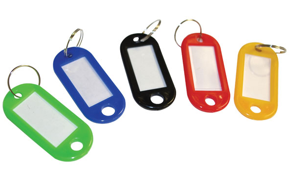 Cathedral Products Value Key Tags Assorted Colours PK100