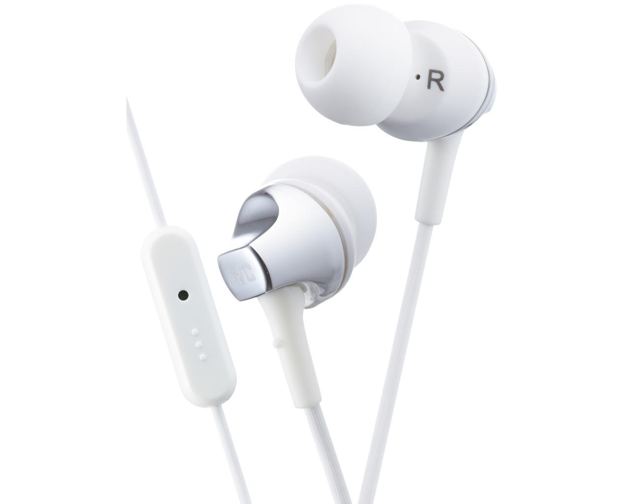 JVC HA-FR325-W-E Inner ear headphones with remote & mic