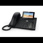 Snom D385 IP phone Black Wired handset TFT 12 lines