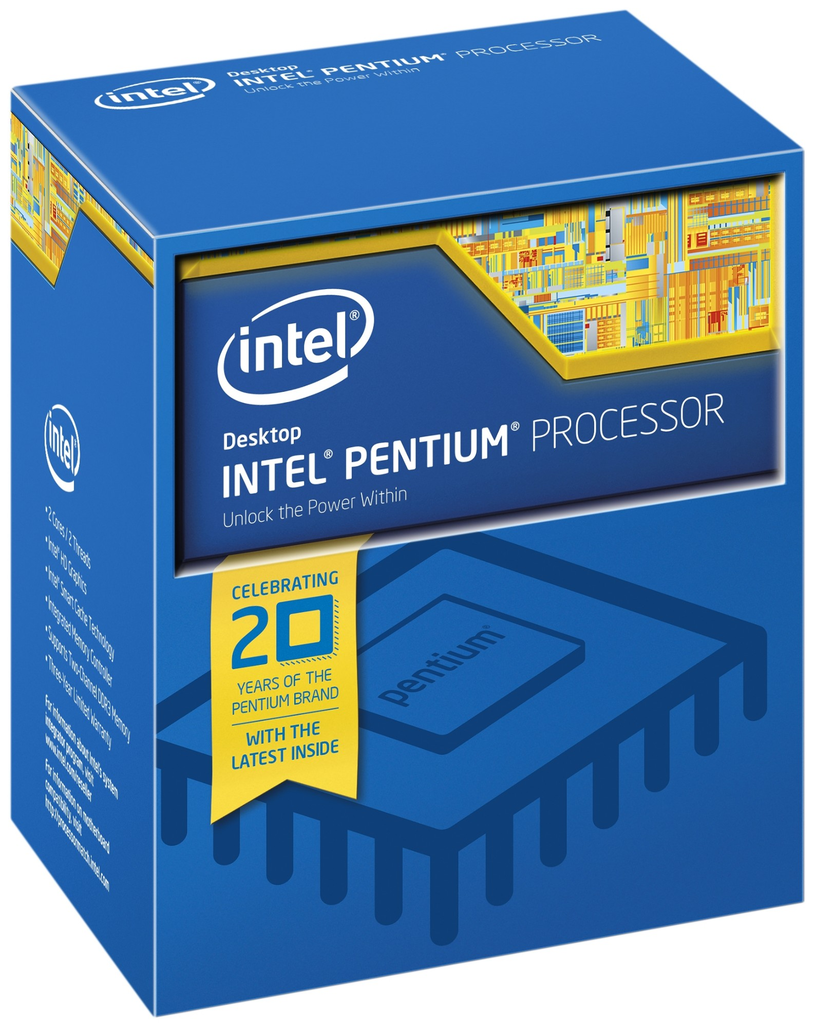Intel Pentium ® ® Processor G4520 (3M Cache, 3.60 GHz) 3.6GHz 3MB Smart Cache Box processor