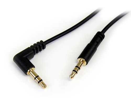 StarTech.com 3 ft Slim 3.5mm to Right Angle Stereo Audio Cable - M/M