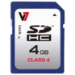 V7 SDHC Memory Card 4GB Class 4 memory card