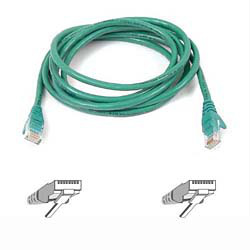 Patch Cable - Cat5e - utp - Snagless - Molded - 1m - Green
