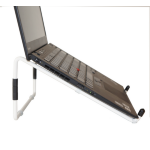 R-Go Tools Steel Travel Laptop Stand, white