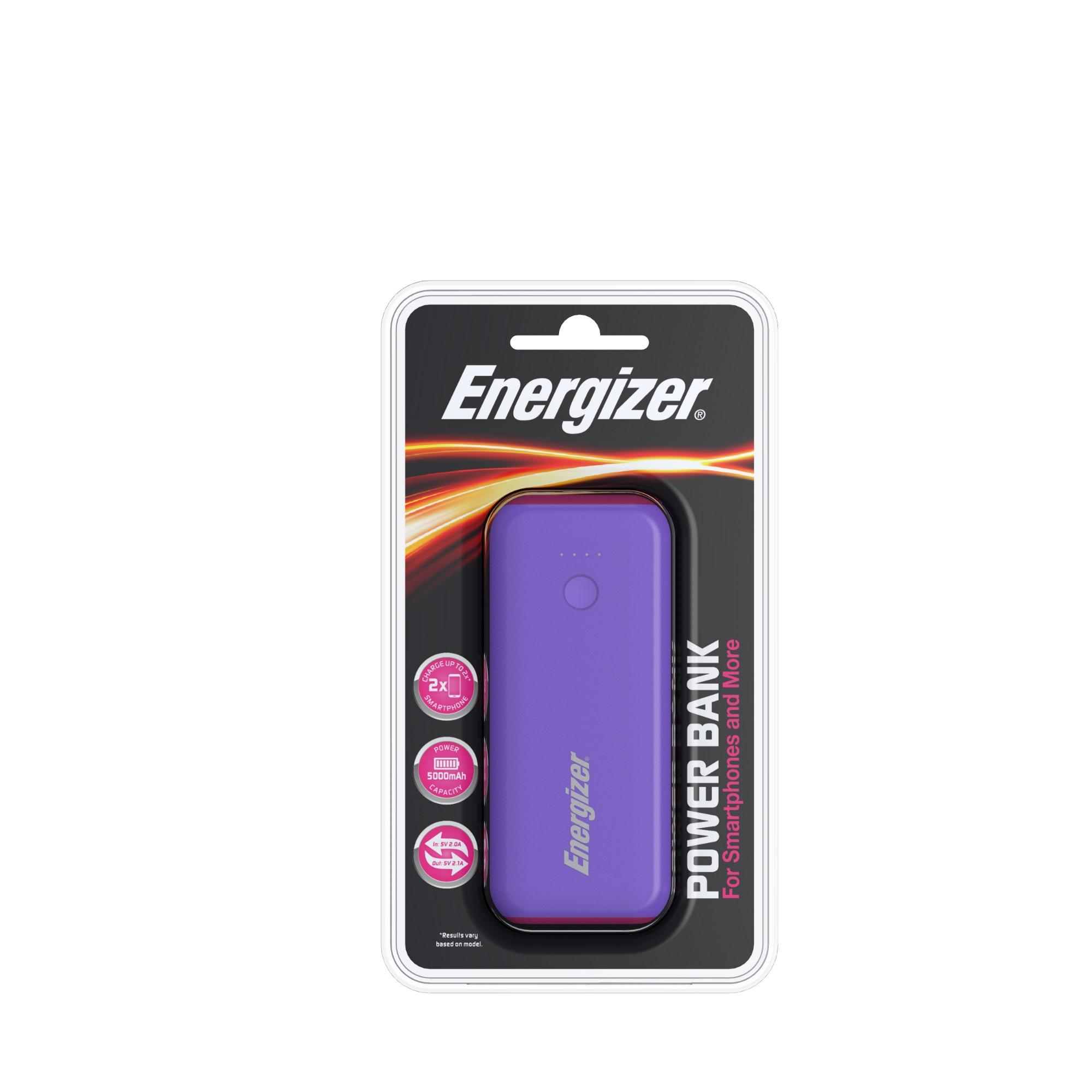 Energizer 5000mAh PowerBank PurpleMagenta
