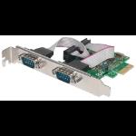 Manhattan PCI Express Card, 2x Serial DB9 ports, 2.5 Mbps, x1 x4 x8 x16 lane buses, Standard/Low Profile PCI, Box