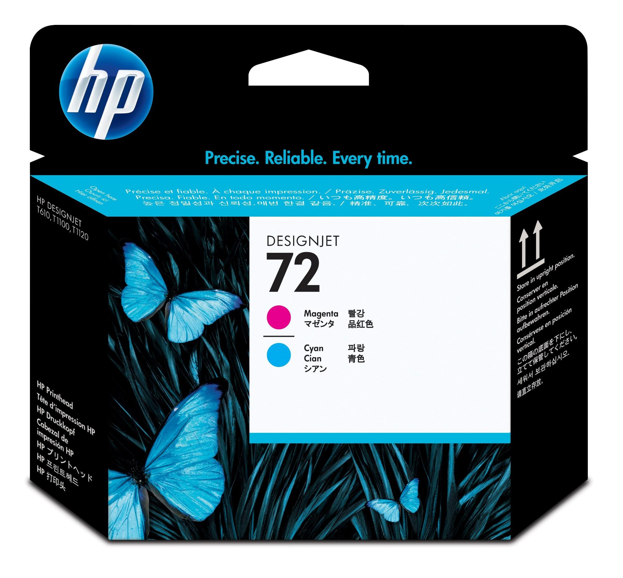 HP 72 magenta/cyaan DesignJet printkop