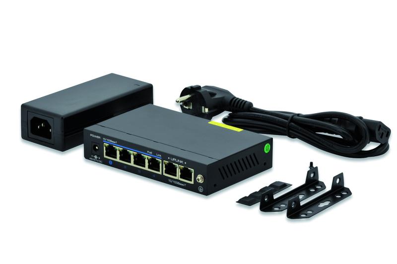 Digitus Fast Ethernet PoE af/at 4-Port Switch
