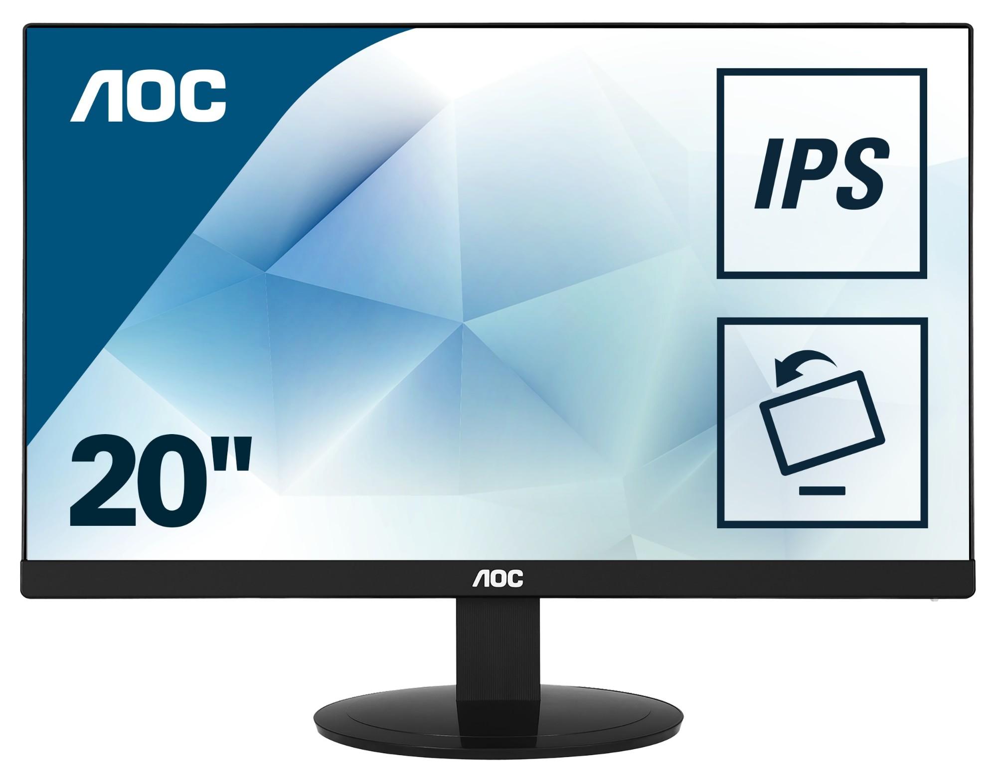 "AOC Value-line I2080SW 19.5"" HD LED Flat Black computer monitor LED display"