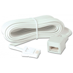 Lindy 35066 telephone cable 10 m White
