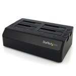 StarTech.com USB 3.0 to 4-Bay SATA 6Gbps Hard Drive Docking Station w/ UASP & Dual Fans - 2.5/3.5in SSD / HDD Dock SDOCK4U33