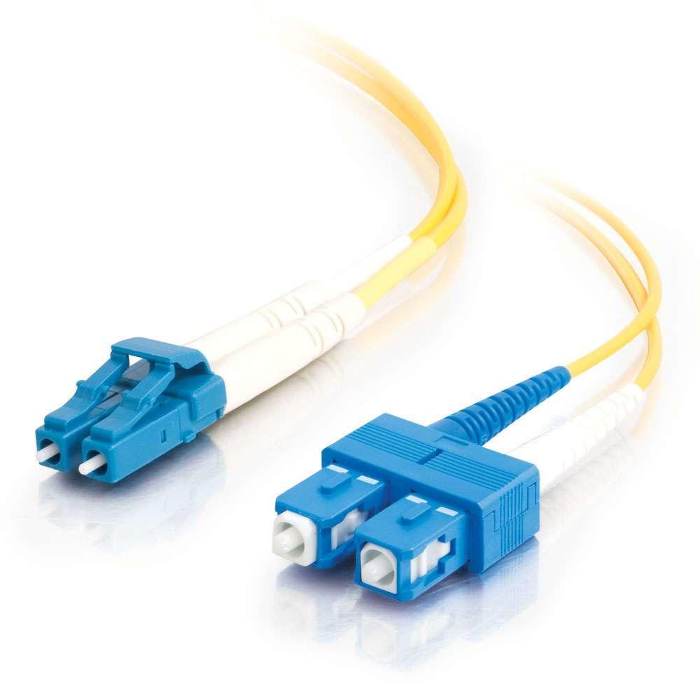 C2G 85587 cable de fibra optica 2 m OFNR LC SC Amarillo