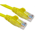 Cables Direct 0.5m Economy Gigabit Networking Cable - Yellow