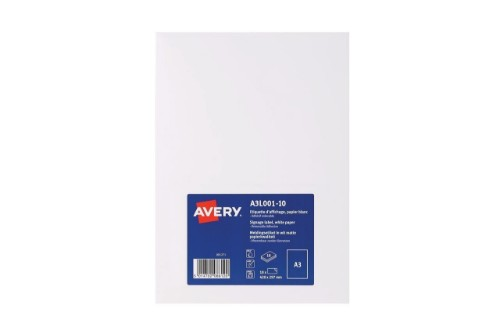 Avery A3L001-10 printer label White Self-adhesive printer label