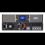 Eaton 9PX3000IRT2U + 3Y Warranty 3000VA 10AC outlet(s) Rackmount/Tower Black uninterruptible power supply (UPS)