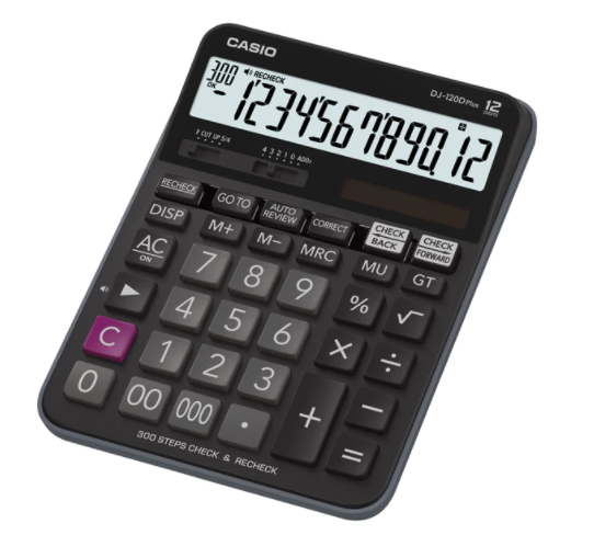 DESKTOP CALCULATOR (DJ-120DPLUS-W-EP)