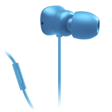 Belkin PureAV 002 Noise Isolating in Ear Headphones with Microphone Remote - Blue