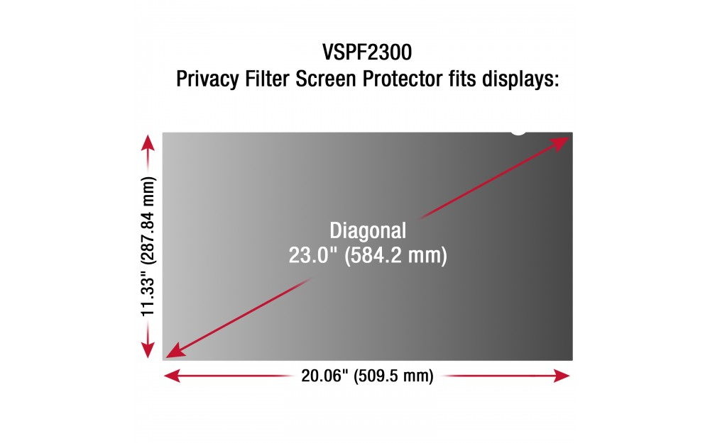 "Viewsonic VSPF2300 23"" Monitor display privacy filter"
