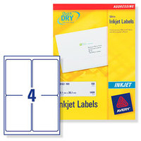 Avery J8169-25 addressing label White