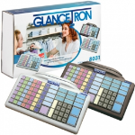GLANCETRON Keyboard 8031, num., MSR, RS232, PS/2, kit, white