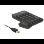 Delock USB Key Pad 19 keys + Tab key black