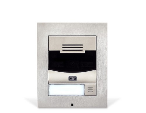 2N Telecommunications IP Solo video intercom system Nickel