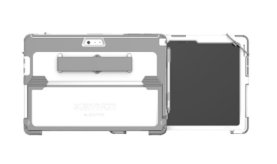 "Griffin GFB-004-WHT tablet case 31.2 cm (12.3"") Cover Grey,White"
