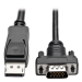 Tripp Lite DisplayPort to Active VGA Cable, Displayport with Latches to HD-15 Adapter (M/M), 3.05 m (10-ft.)
