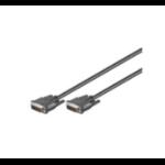 Microconnect DVI-I (DL) 2m DVI cable Black