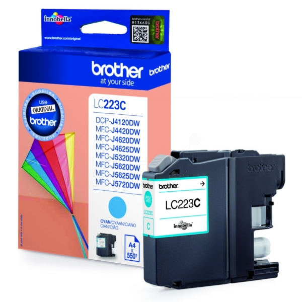 Brother LC-223C Ink cartridge cyan, 550 pages, 6ml LC223C