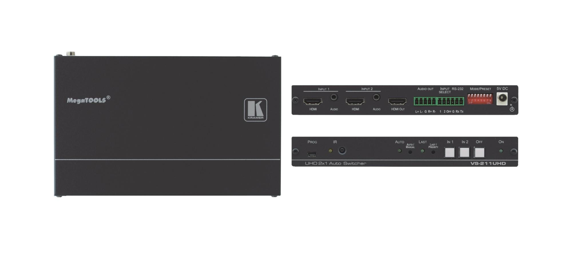 Kramer Electronics VS-211UHD interruptor de video HDMI