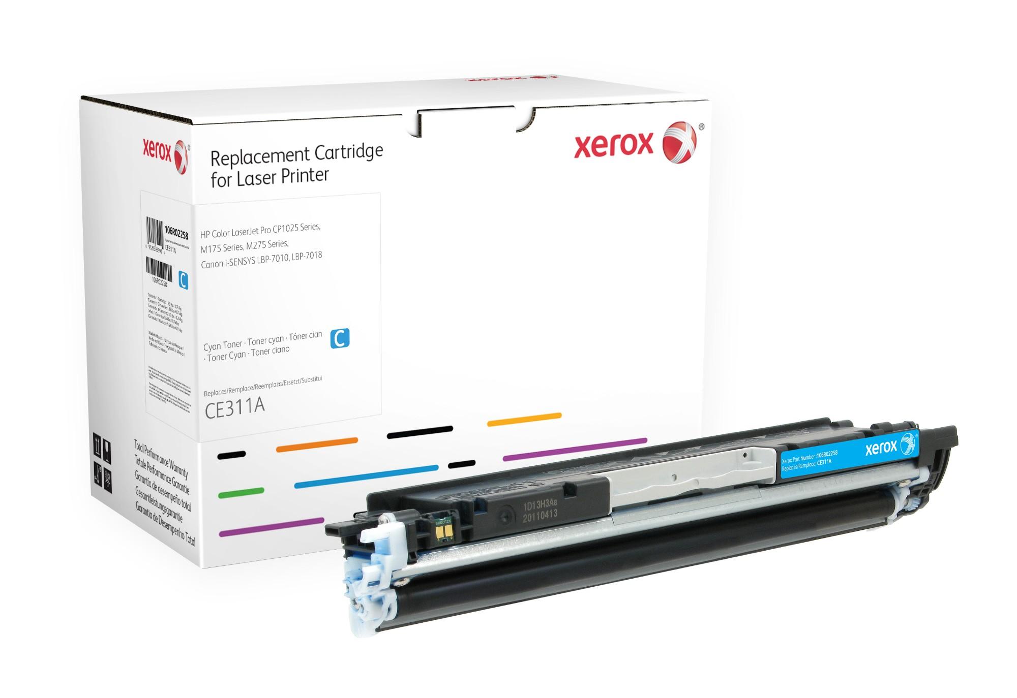 Xerox Cartucho de tóner cian. Equivalente a HP CE311A. Compatible con HP Colour LaserJet 100 M175 MFP, Colour LaserJet CP1025