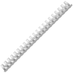 FELLOWES BINDING COMB PLASTIC ROUND 21 RING 25MM WHITE PACK 50