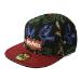 HARRY POTTER Wizards Unite Logo and Hogwarts Houses Symbols All-Over Print Snapback Baseball Cap, Black/Red (SB26